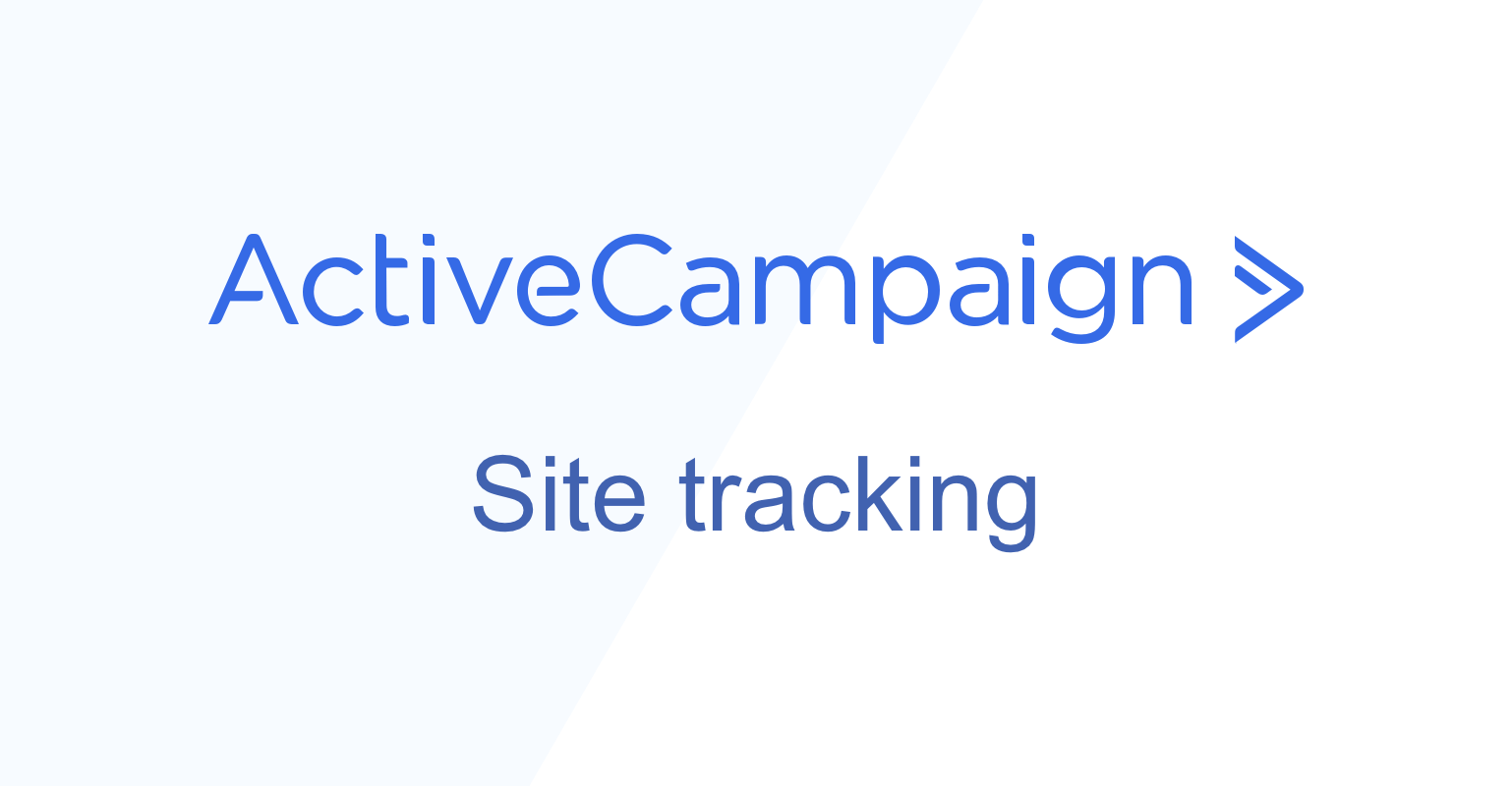 ActiveCampaign site tracking | ConvertBox | Intelligent On