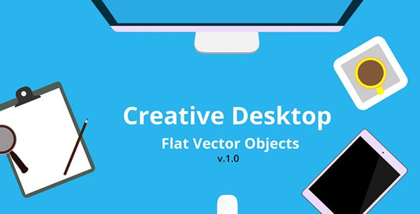 Creative-Desktop-Flat-Vector-Objects-Featured